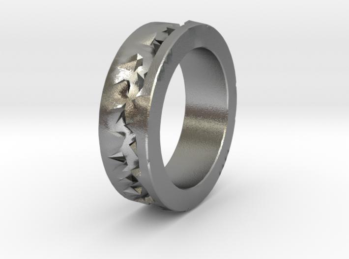Silver Crystals Ring 3d printed
