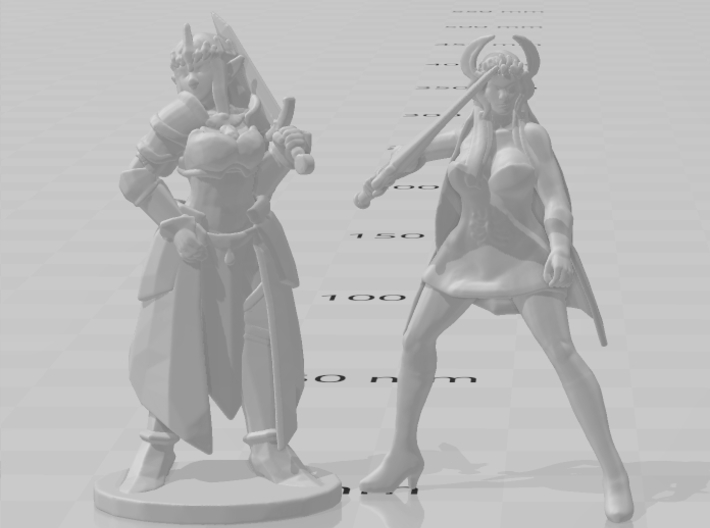 Shera DnD 1/60 miniature for games and rpg 3d printed