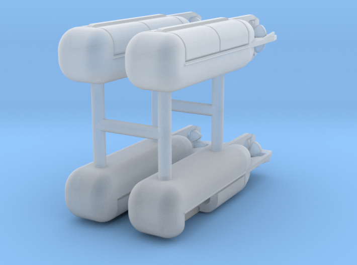 4 x SEAL Swimmer Delivery Vehicle Mk 8, 1/350 3d printed