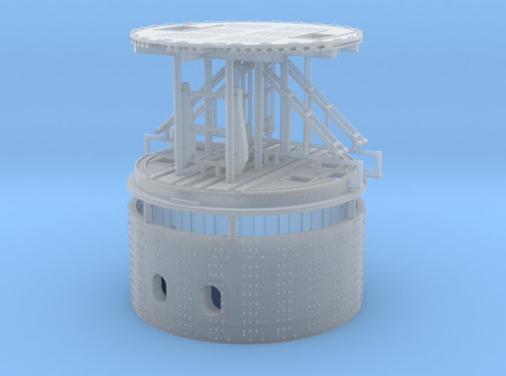 1/192 USS Monitor turret 3d printed
