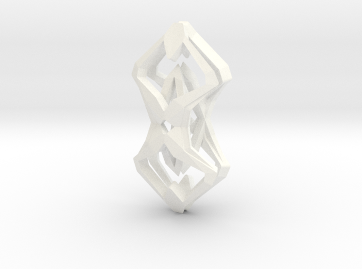 """head to head, heart to heart"" SHARP, pendant 3d printed"