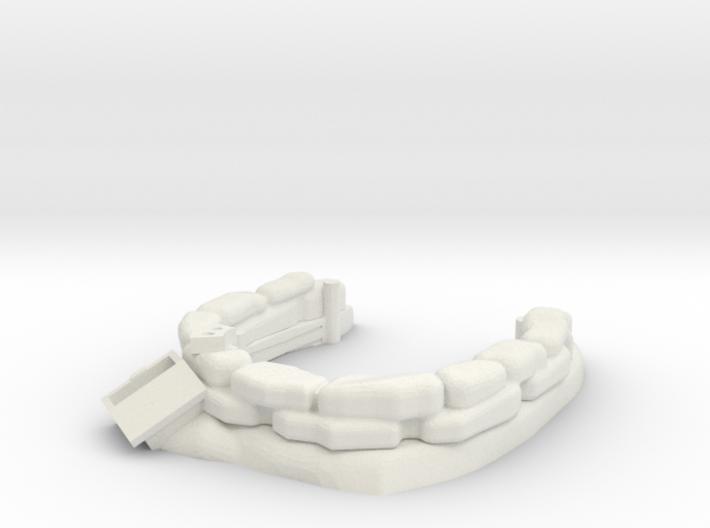 Sandbag Emplacement 1/56 3d printed