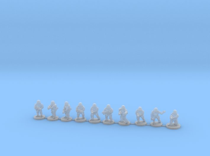 15mm Knights Full Squad 3d printed