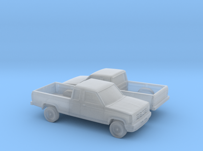 1/160 2X 1989-92 Ford Ranger Ext Cab 3d printed