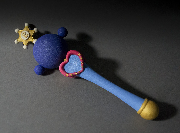 Pluto Planet Wand 3d printed
