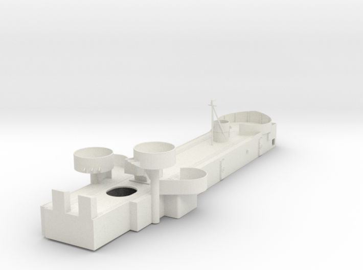 1/96 USS Cecil Superstructure6 Deck1 3d printed