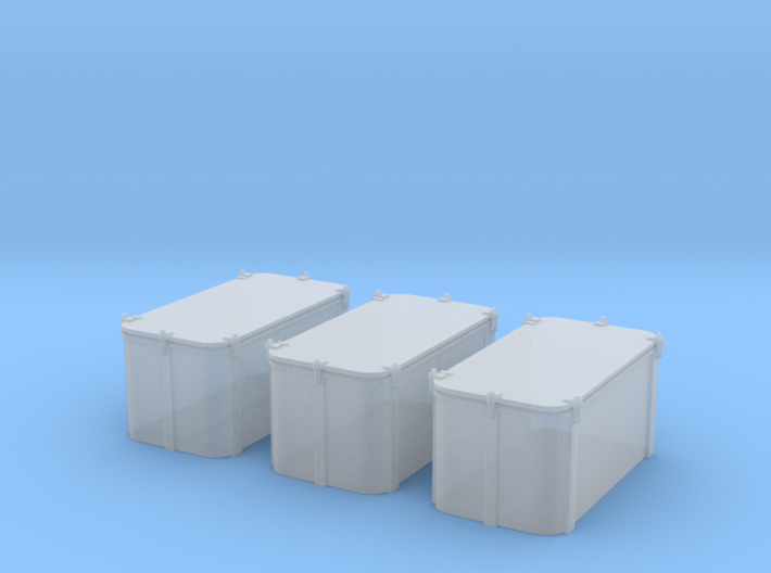 1/96 Cecil Superstructure6 Ammo Lockers 40mm Set 3d printed