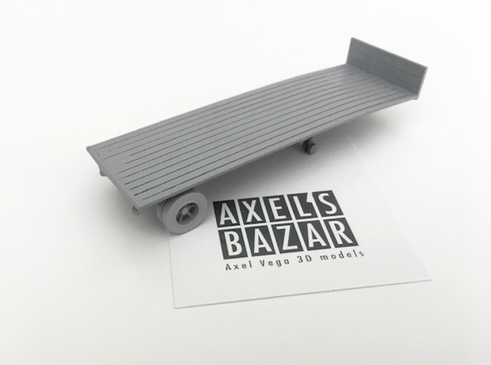 Single axle semi trailer Ho - 1:87 3d printed