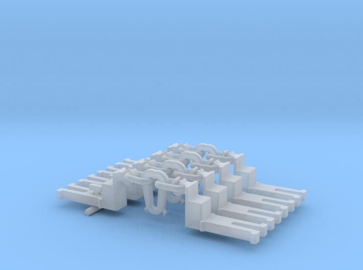 NEM OO Type 14 Couplings - Big-Step Up Inst' x4 3d printed