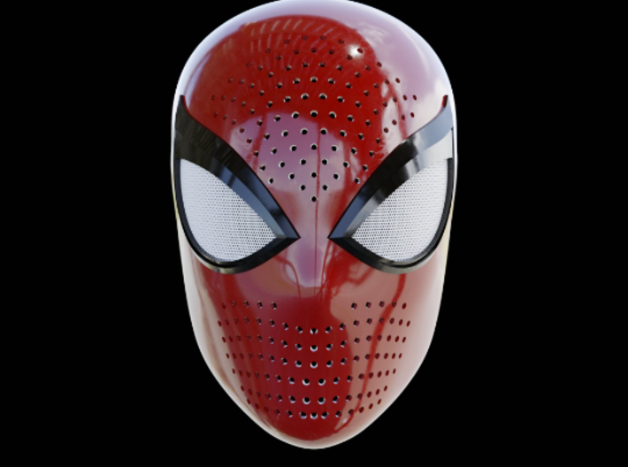 Spiderman ps4 Face Shell 3d printed