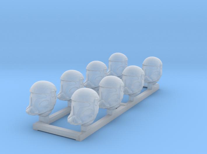 Vanguard Trooper Heads 3d printed