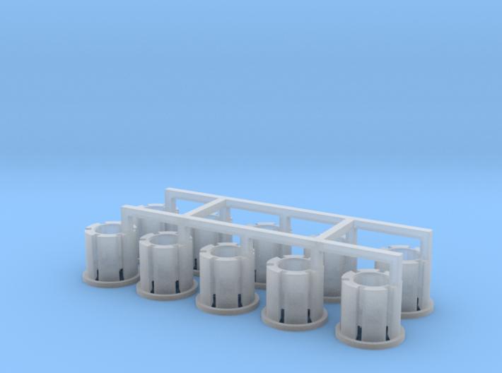 10 Felgen für Tieflader TU 3 / TU 4 3d printed