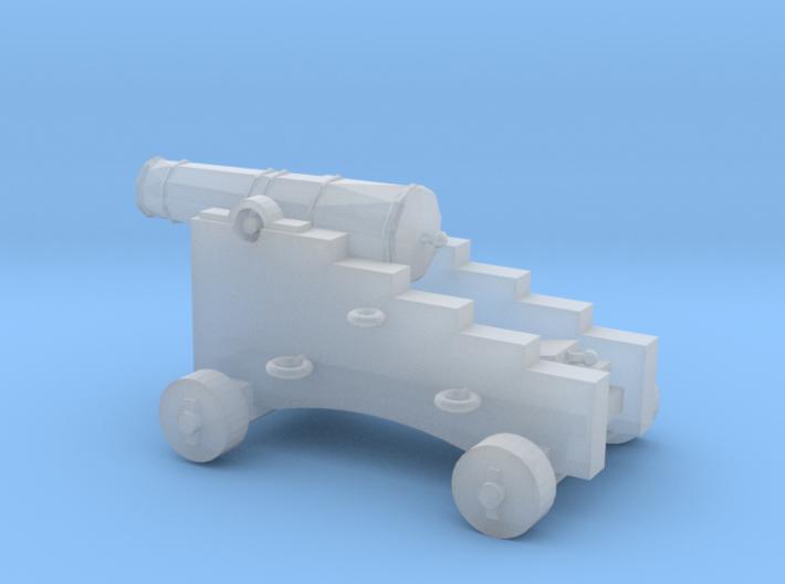 1/87 Scale 4 Pounder Naval Gun 3d printed