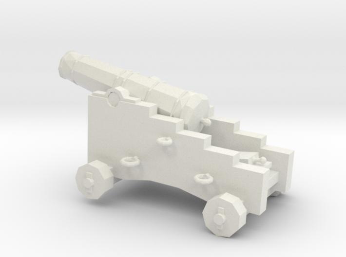 1/48 Scale 6 Pounder Naval Gun 3d printed