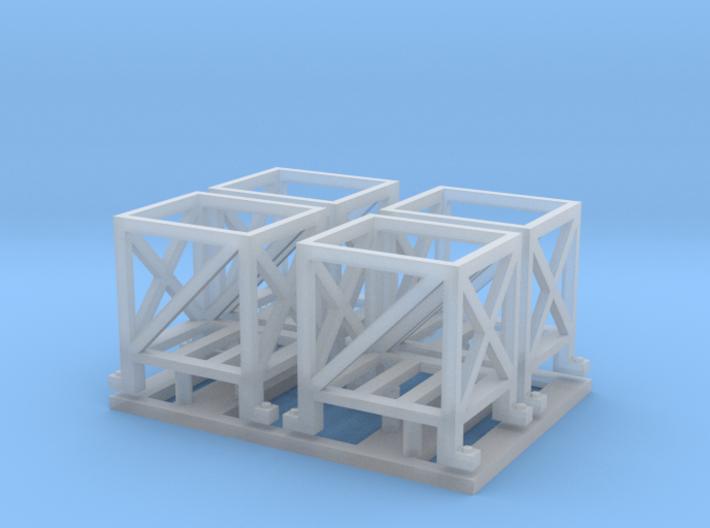 Shot rack x 4 set 1/35 3d printed