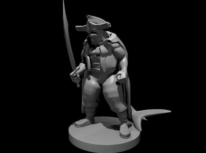 Hammerhead Pirate with Scimitar 3d printed
