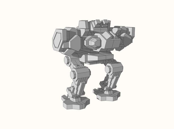 """Arbitor"" Heavy Assault Mech 6mm 3d printed"
