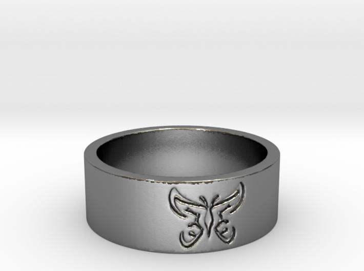 25 Butterfly v4 Ring Size 7 3d printed