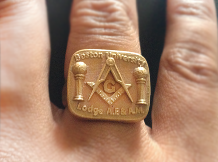 Size 8 Mason Ring 3d printed