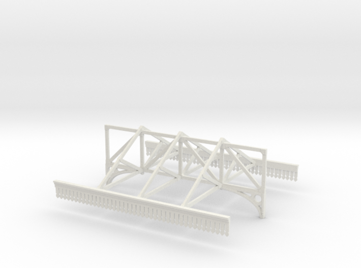 Platform Canopy Section 2 - No Roof - 4mm Scale 3d printed