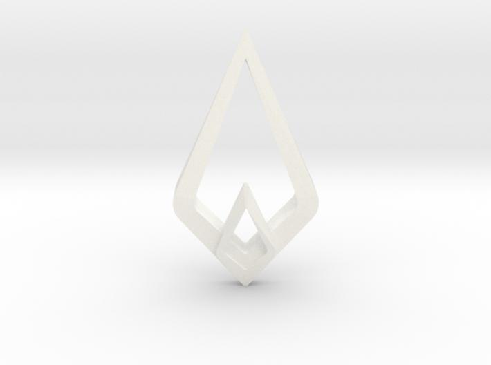 HIDDEN HEART Lumina, Pendant 3d printed
