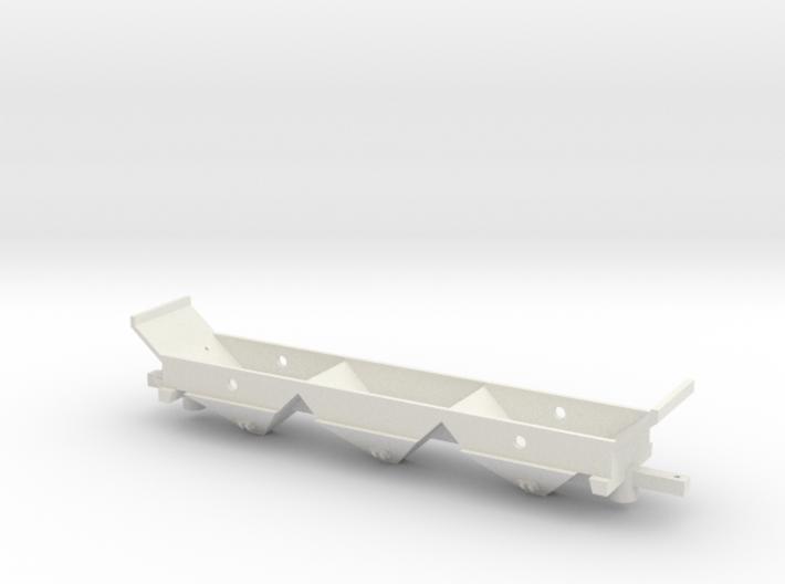Z-Scale 3 Bay Hopper Underbody 3d printed