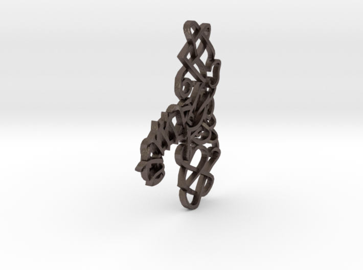 Celtic Knotted Elephant Pendant 3d printed