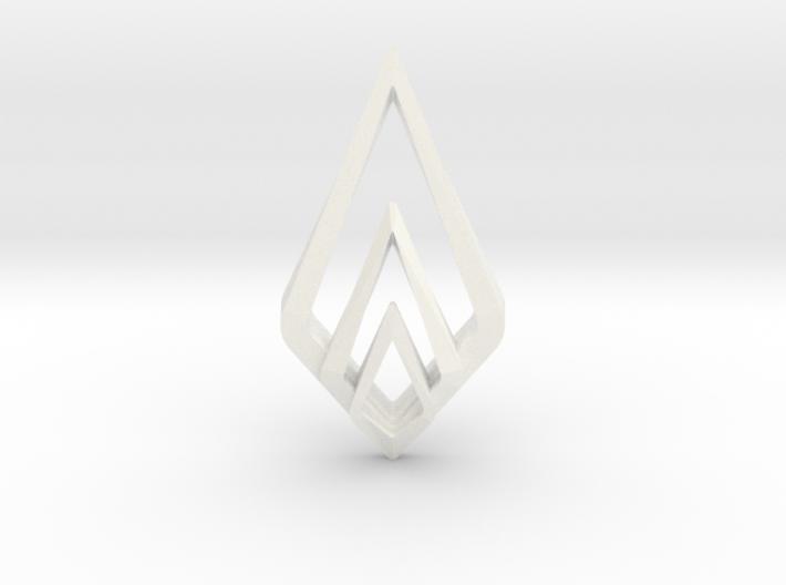 HIDDEN HEART Spark, Pendant 3d printed