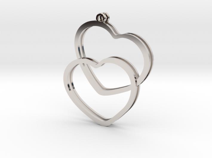 2 Hearts earrings 3d printed