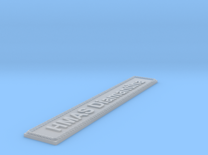 Nameplate HMAS Diamantina 3d printed