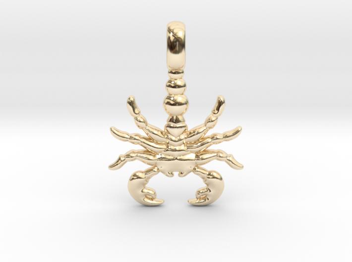 SCORPION TOTEM Zodiac Pendant Jewelry Symbol 3d printed