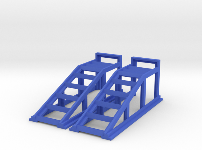 RC Garage 4WD Truck Car Ramps 1:10 Scale 3d printed