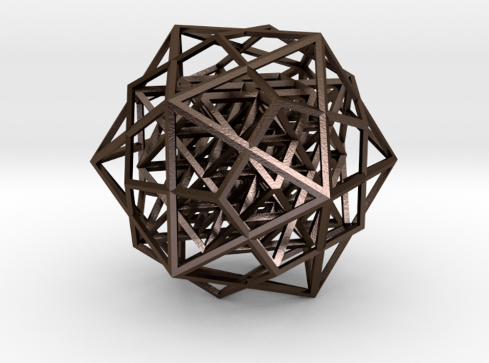 64 tetrahedron in icosahedron & dodecahedron 3d printed