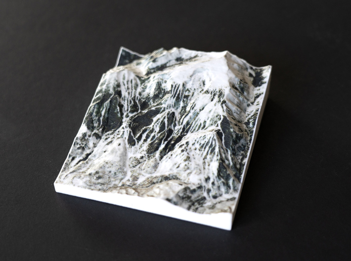 Snowmass in Winter, Colorado, USA, 1:50000 3d printed