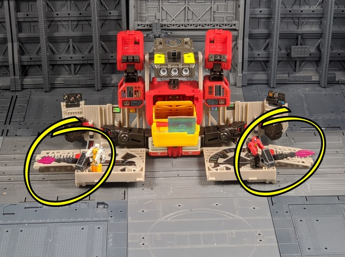 TF Titans Return upgrade for laserbeak buzzsaw 3d printed Weapons for base mode
