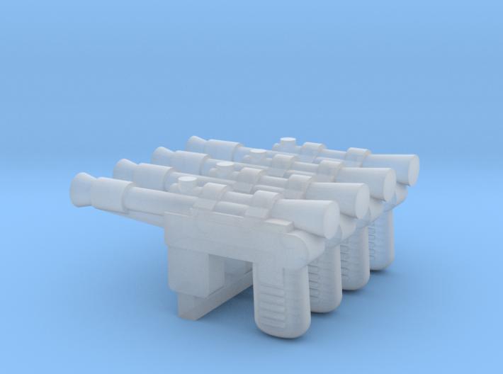 """PRHI Smuggler Blaster for 2"""" Figures 3d printed"""