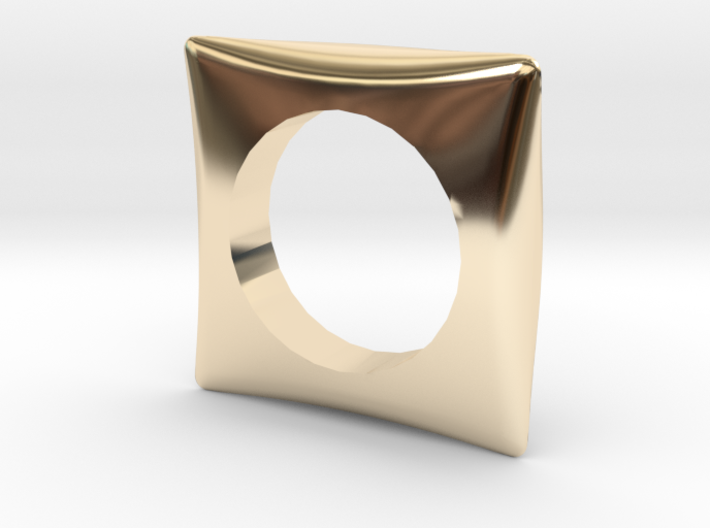 Curved Ring 18mm 3d printed