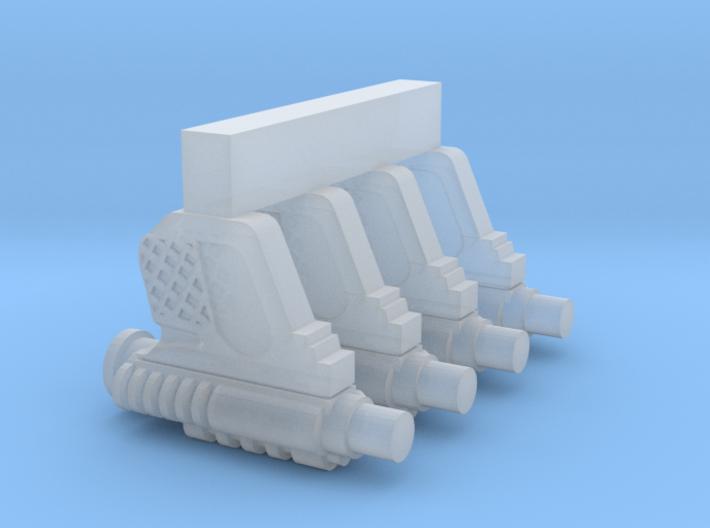 "PRHI Scout Blaster for 1"" Figures 3d printed"