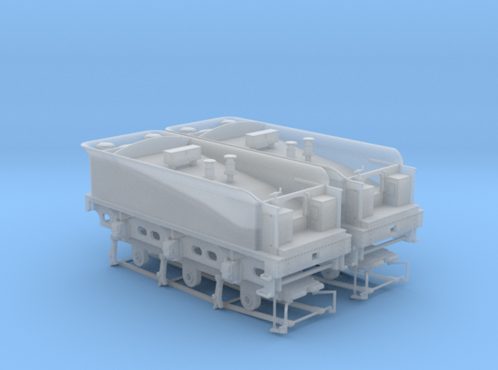 812 Tender 3000g DOUBLE Pack & EM-P4 Chassis 3d printed