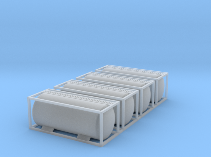 TankTainer Set of 4 - Z scale 3d printed
