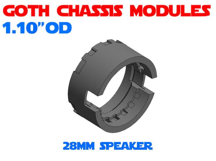 GCM110-03-03 - 28mm Bass speaker holder 3d printed