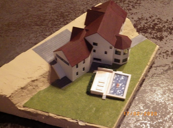 New England House - Zscale 3d printed Painting and photo by @lemiceterrieux