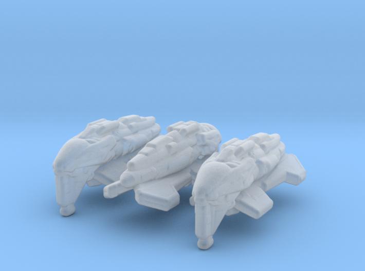 Kazon Scout 1/1000 x3 3d printed