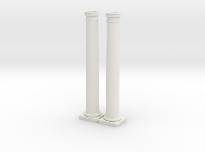 2 Columns-- 88mm high 3d printed