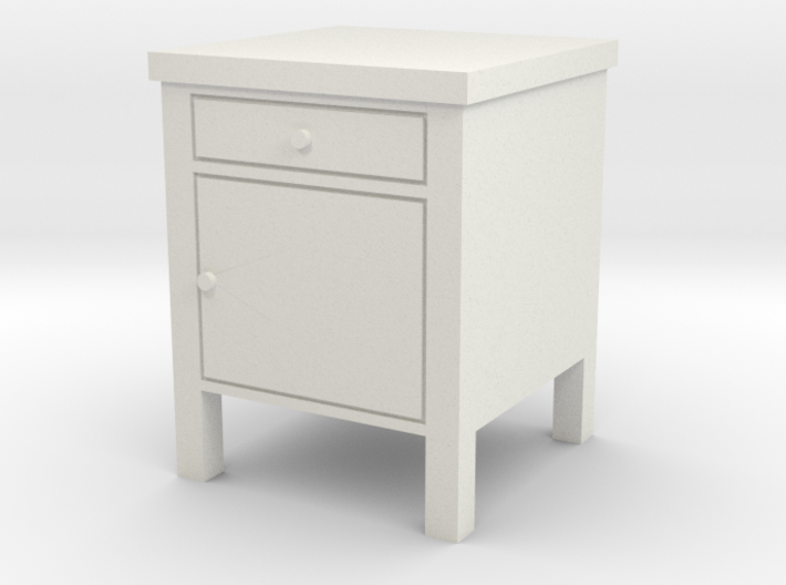 Hospital Night Stand 1:18 3d printed
