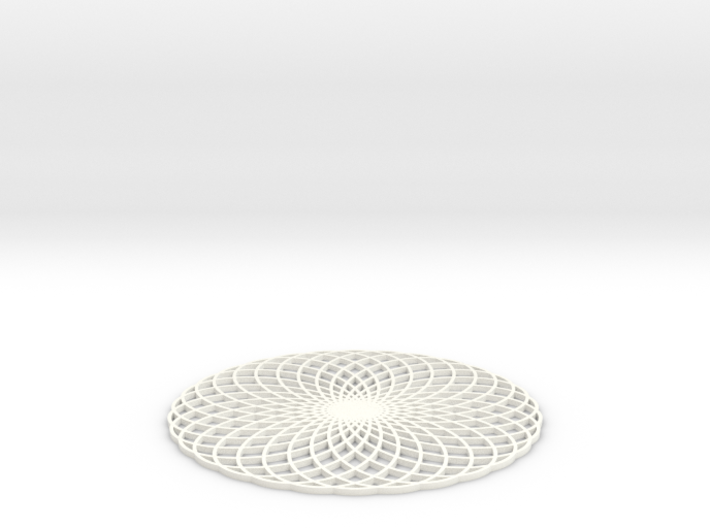 Spirograph Coaster 2 3d printed