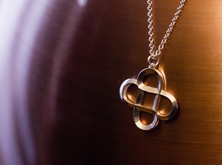 Infinity Hearts - Pendant 3d printed Infinity Hearts Pendant. Fine Detail Polished Silver.