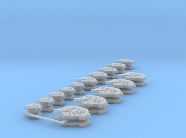 Commission 135 icons set 3d printed
