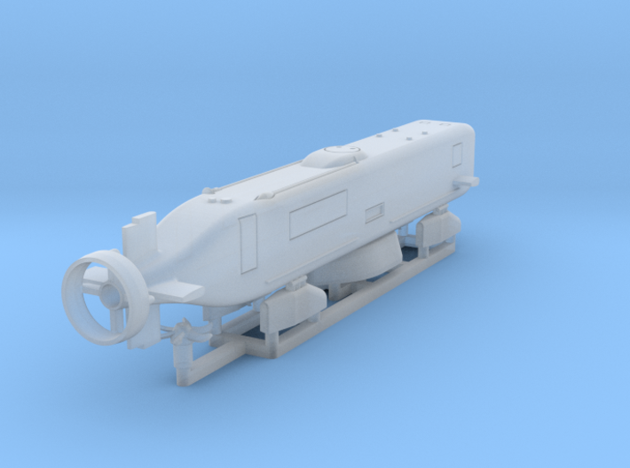 Advanced SEAL Delivery System, 1/350 scale 3d printed