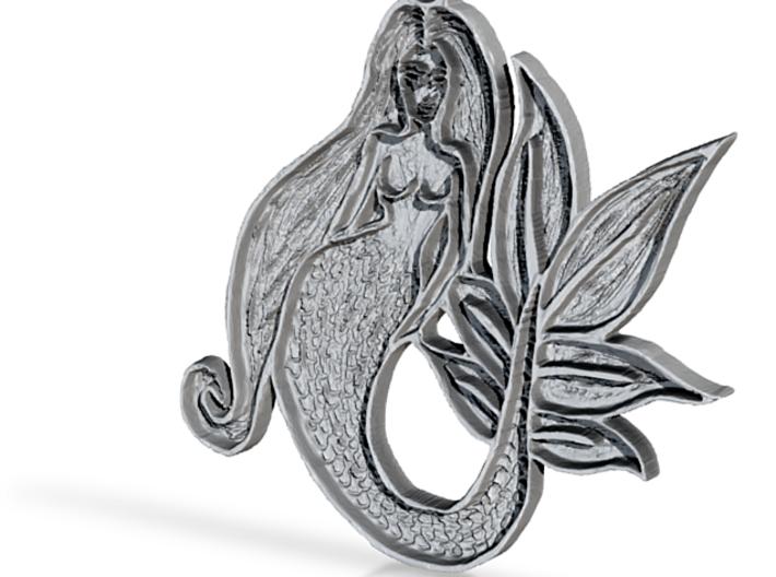:Mermaid Sketch: Pendant 3d printed